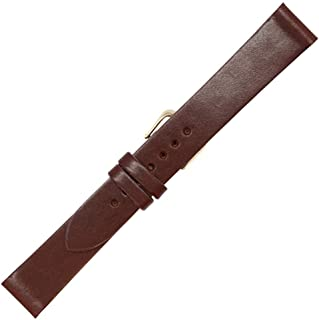 Made in The USA - English Bridle Leather - Flat Watch Strap Band - Gold and Silver Buckles Included – Available in Black Brown and Tan - Factory Direct - Real Leather Creations