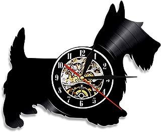 ビニールレコードの壁掛け時計、創造的なレトロな郷愁 12'' 掛け時計 サイレントクォーツムーブメント ウォールアート家の装飾最高の贈り物