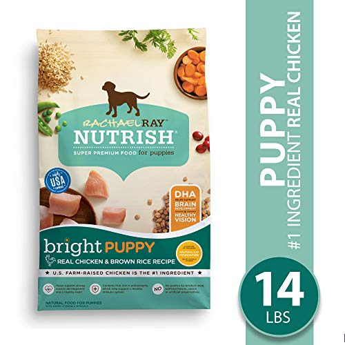 Rachael Ray Nutrish Bright Puppy Premium Natural Dry Dog Food, Real Chicken & Brown Rice Recipe, 14 Lbs