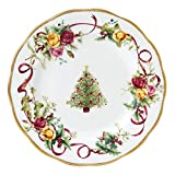 Old Country Roses Christmas Tree Salad Plate, 8-Inch