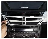 furong Coche Centro Centro Consola Aire Acondicionado Outlet Frame Decoración Cubierta Cubierta Pegatinas Ajuste para BMW X1 E84 Interior Accesorios Automóviles (Color Name : Silver)