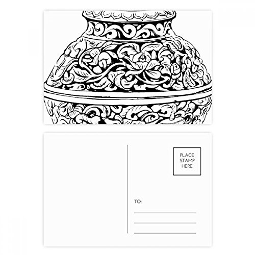 DIYthinker Chinese Cultuur Qing Dynastie Vaas Lijn Postkaart Set Verjaardag Thanks Card Mailing Zijkant 20 stks 5.7 inch x 3.8 inch Multi kleuren