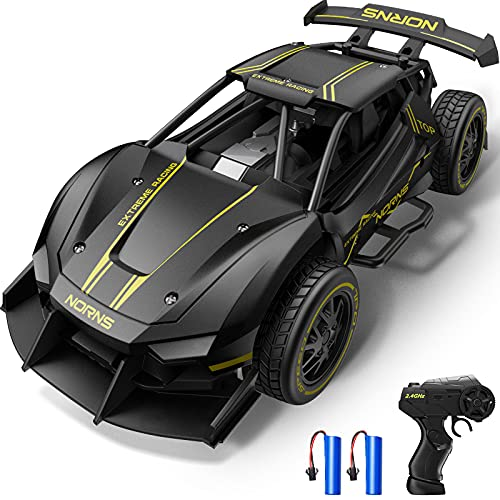 Dodoeleph Metal RC Drift Car, 10 mph RC Cars, 1:24 Diecast Remote Control Car, Electric Sport Racing Hobby Toy Car Model Vehicle for Boys Teens Adults Gift Black
