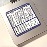 Microsoft Word for MacOS Keyboard Shortcut Quick Reference Sticker - Work Smarter and Faster - Great for Learning Word on MacBook - Vinyl - Size 3' x 3' for Any MacBook Size