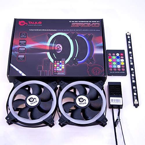 TALIUS Siroko Computergehäuse Ventilator - Computer Kühlkomponenten (Computergehäuse, Ventilator, 12 cm, 25 dB, 34,34 cfm, 1,51 mmH2O)