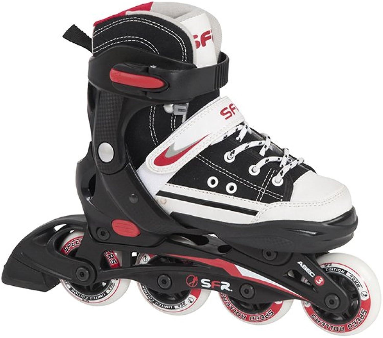 SFR Verstellbare Inline-Skates, 'Camden', 'Camden', 'Camden', Schwarz, Rot und Weiß - 12J Größe 3 B004263TWE  Internationaler großer Name 742281
