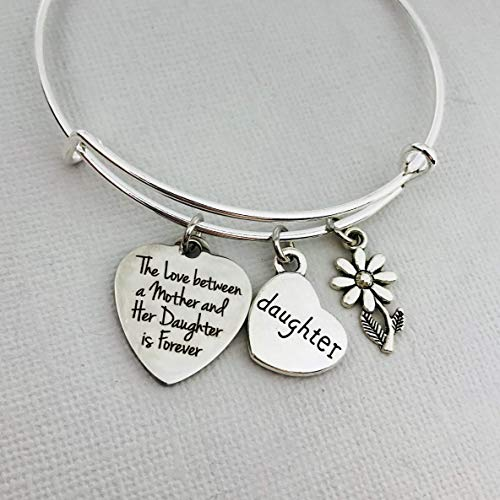 Gift for Daughter from Mom, The love between a Mother and a Daughter is forever bracelet