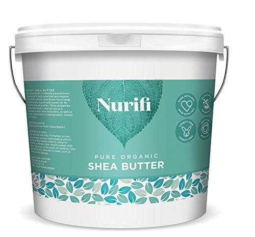 Manteca de karité sin refinar Nurifi, 100 % pura, natural y orgánica, 1 kg