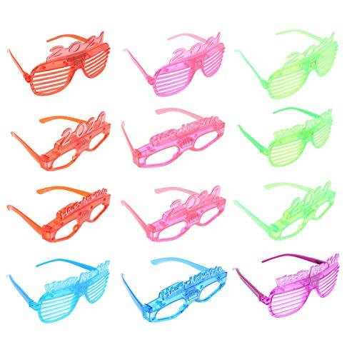 NUOBESTY Plastikowa migawka okulary migawka LED świecące cieniowanie okulary przeciwsłoneczne okulary 2021 impreza słońce nowość fantazyjna sukienka okulary przebranie rekwizyty na przyjęcie sylwestrowe 2021