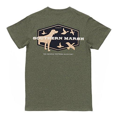 Southern Marsh Branding Hunting Dog,Washed Dark Green,Large