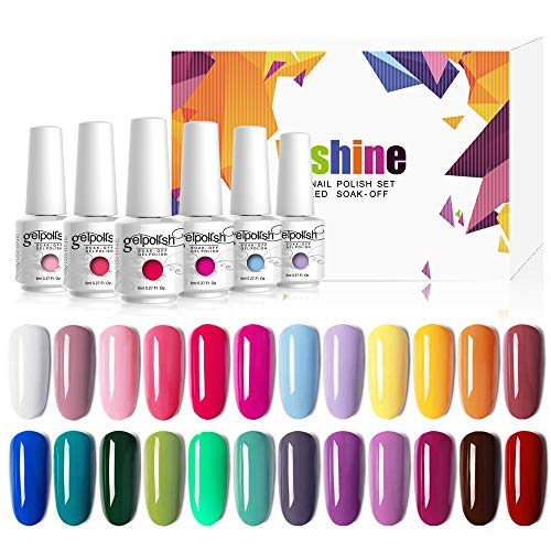 Vishine Vernis Semi permanent Vernis à Ongles Gel UV LED Soak Off 24 coloris Kit Manicure Pour Nail Art 8ml Cadeau idéal