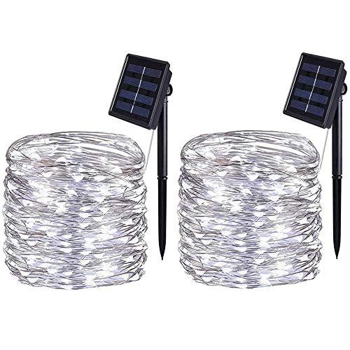 CHENJIA Solar Powered luces de cadena, 10 metros / 33 pies 100 LED / 8 modos, estrellado cadena luces, interior/exterior a prueba de agua solares luces de la decoración for jardines, Hogar, Bailar,