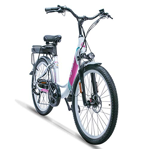 Save %14 Now! VTSP E-Bikes All Terrain Women Adults Sports Fitness Green Travel Tools 500W 48V XF200...