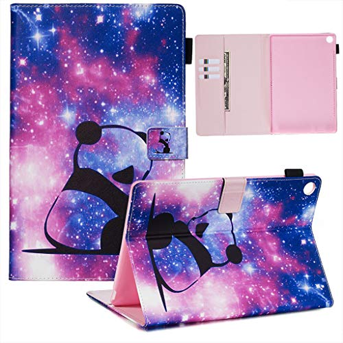 Careynoce Huawei MediaPad M5 10.8 Hülle,Gemaltes Muster PU Leder Abdeckung Stand Flip Schutzhülle Hüll mit Aufwachen/Schlaf Funktion für Huawei MediaPad M5 10.8 - Panda