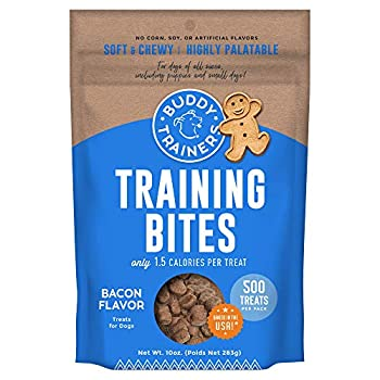 Buddy Biscuits Training Bites for Dogs Low Calorie Dog Treats Baked in The USA Bacon 10 oz.