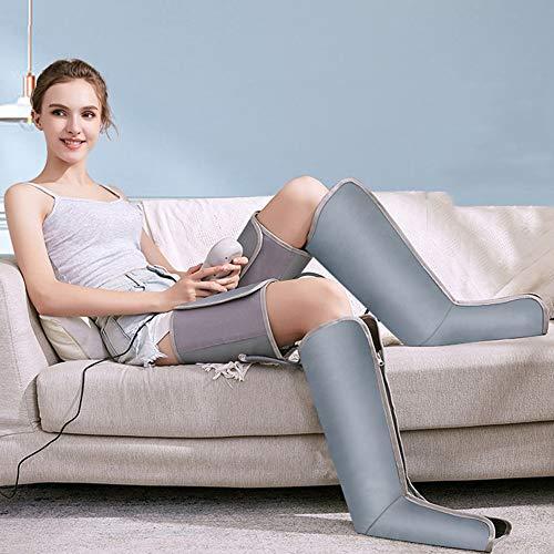 Hmyloz Luchtcompressie been massageapparaat voor voeten en kuiten circulatie massage 9 intensiteiten met controller draagbaar therapieapparaat voor onderhoud thuis