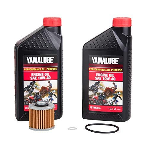 TUSK 4-Stroke Oil Change Kit Yamalube All Purpose 10W-40 - Fits: Yamaha Raptor 700 2006-2020
