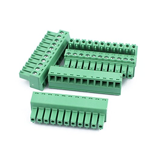 uxcell 5Pcs 300V 2EDGK 3.81mm Pitch 11-Pin PCB Screw Terminal Block Connector