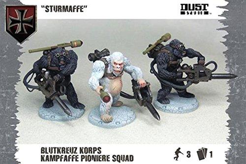 Dust Tactics Model - Sturmaffe Blutkreuz Korps Kampfaffe Pioniere Squad - DT077