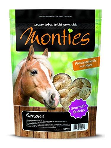 Monties Snack per cavallo, estrusore per banana, diametro ca. 4,5 cm, snack gourmet, 500 g