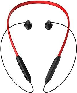 Zagzog ワイヤレスヘッドフォン Bluetoothイヤホン マイク付き ハンズフリー通話 スポーツイヤホン 高音質 軽量 IPX4防水 iPhone/Android各種対応 ワイヤレス ヘッドセット (レッド)