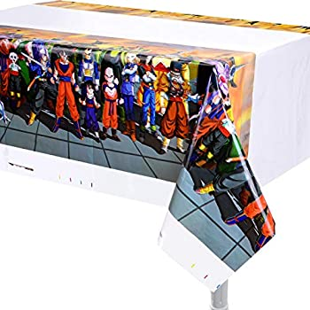 3pack Plastic Tablecover Tablecloth Supplies for Dragon Ball Party