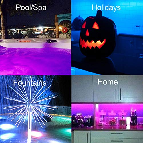 GlowTub Underwater Remote Controlled LED Color Changing Light for Bathtub or spa - Battery Operated -V1