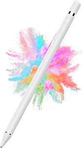 Stylus Pen for iPad, iPad Pencil Compatible for iOS, Android, iPad Air/Pro/Mini 2/3/4 and More, Rechargeable Pen for Tablet(White)