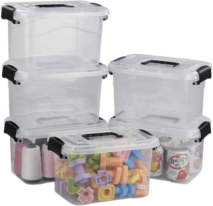 Ramddy 5 Quart Clear Plastic Bins Latching Max 71% OFF B Luxury Lid with Versatile