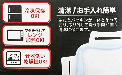パール金属洗いやすい保存容器正方形M3個組電子レンジ対応NEWキープロック日本製HB-1427