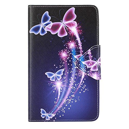 Hülle Compatible con Galaxy Tab A 7 Zoll - Ultra Slim PU Leder Flip Cover Schutzhülle für Samsung Galaxy Tab A 7.0 Zoll (2016) SM-T280N / SM-T285N Tablet Lederhülle Ledertasche Hülle Tasche Schale