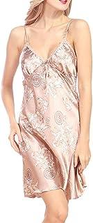 9edc23961b12 Donna Abito da Notte Fashion Eleganti alla Moda Sleepwear Estivi  Accappatoio Grazioso Stampato Pigiama Smanicato off