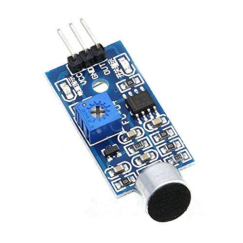 WINGONEER Sensor de sonido del módulo del sensor del vehículo inteligente es compatible con Arduino
