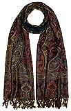 LORENZO CANA Luxus Herren Schal Schaltuch aus weicher Wolle Paisley Muster bunt...