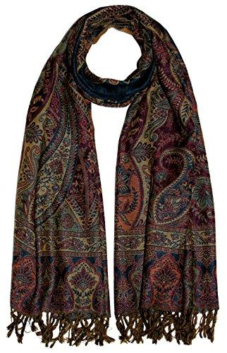 Lorenzo Cana Herren Schal Schaltuch aus weicher Wolle Paisley Muster bunt mehrfarbig 70 cm x 190 cm Wollschal Wolltuch Umschlagtuch 7819711