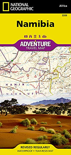 Touristische Karte Namibia 1:1 200 000: waterproof, tear-resistant Travel Map (National Geographic Adventure Map, Band 3209)