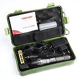 Moonuy 5000 Lumens Tactical LED CREE XM-L T6 Lampe de poche de police X800 Zoom Super Bright...