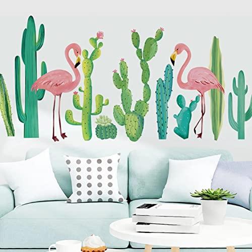 Rjjrr Diy Acabado Tropical Cactus Pegatinas De Pared Decoración De La Frontera Papel Tapiz Autoadhesivo Decoración De La Sala De Estar Cuarto