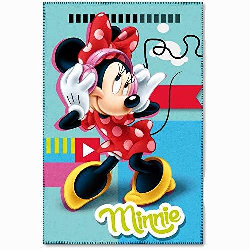 Plaid polaire Minnie Mouse couverture STAR bleu