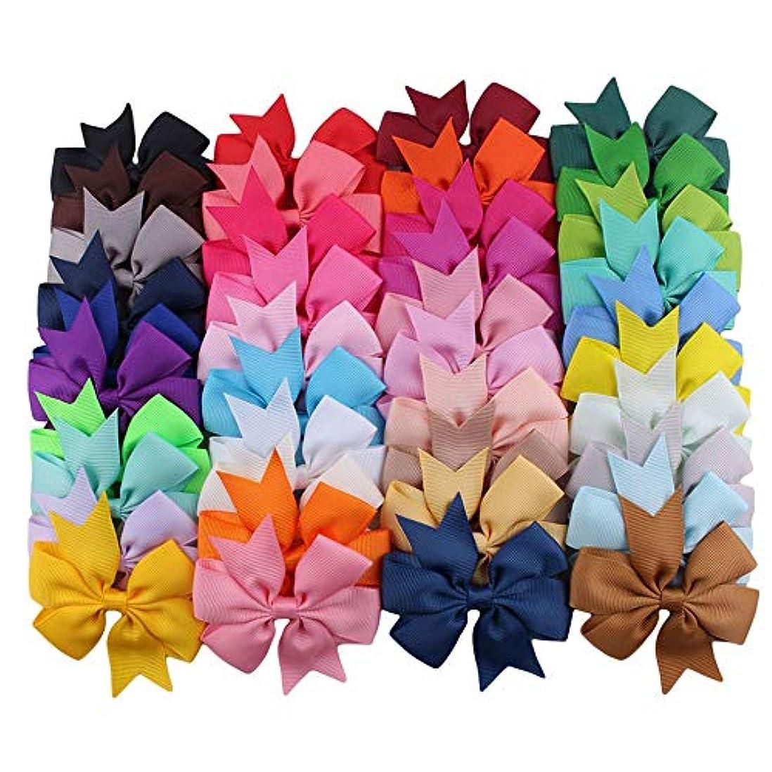 サワーとげのある戻る10本の子供のヘアクリップはリボンのフィッシュテールの弓の結び目の色の混合 - 多色