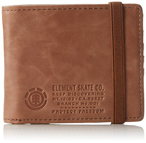 Element Herren Endure L, Wallet Geldbörse, Braun (Brown), 1x7x9 cm