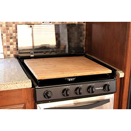 Camco Bamboo 43571 Stove Cover Silent Top