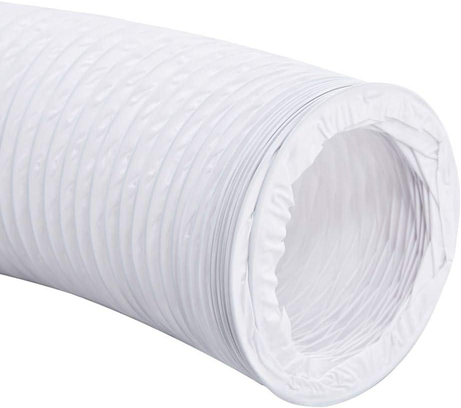 Tidyard Conduit d/échappement en PVC 6 m 10 cm pour Toilettes Ateliers et Garages Salles de Bains etc. lBureaux