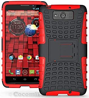 Cocomii Grenade Armor Motorola Droid Maxx/Droid Ultra Case New [Heavy Duty] Premium Tactical Grip Kickstand Shockproof Bumper [Military Defender] Full Body Rugged Cover for Droid Maxx (G.Red)