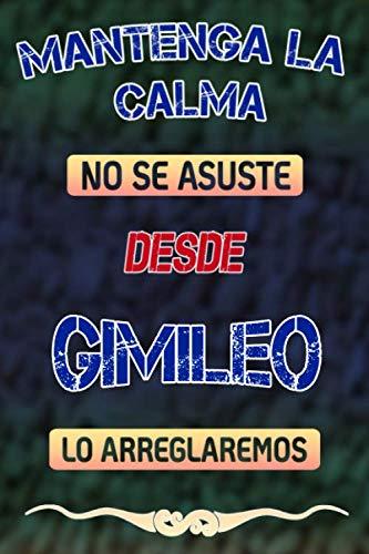Mantenga la calma no se asuste desde Gimileo lo arreglaremos: Cuaderno | Diario | Diario | Página alineada