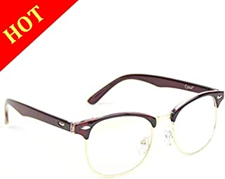 Cyxus Blue Light UV Blocking Computer Glasses Women Men, Anti Eye Strain Eyewear (M, 8056T29,Tea Brown)