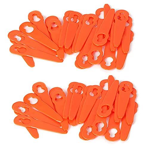 Chuancheng Lot de 80 lames en plastique pour débroussailleuse sans fil STIHL FSA 45