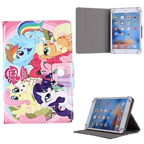 Lenovo Tab 4 5 8 10 Plus P10 M10 E10 Kids EVA Foam Stand Handle Case Cover (Lenovo Tab E7, Pink Pony Horse)