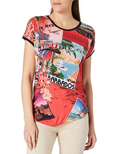 Desigual TS_Colombia Camiseta, Rojo, L para Mujer