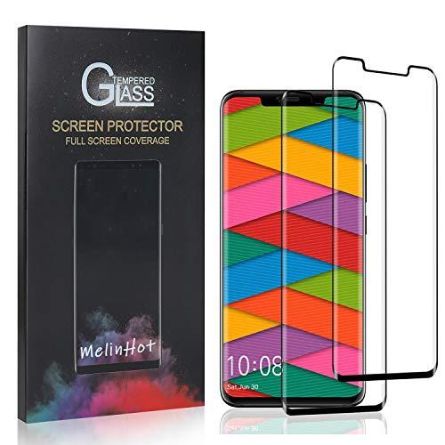 MelinHot Displayschutzfolie für Huawei Mate 20 Pro, 9H Anti Kratzen Panzerglasfolie, 99% Transparente Schutzfilm aus Gehärtetem Glas für Huawei Mate 20 Pro, 2 Stück